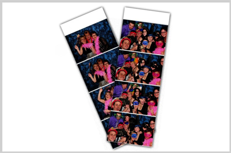 grainy dark competitor photo booth strips